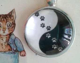 animal picture pendant necklace yin yang charms