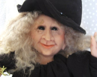 Happy-Go-Lucky HALLOWEEN WITCH ~ Fine Art Doll by Terry Richards !