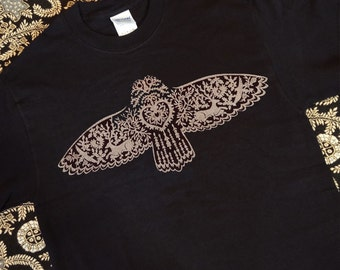 Owl Flying Silkscreened Men's Tee