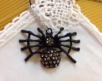 Halloween Spider Necklace,  24 inches, 61 cm