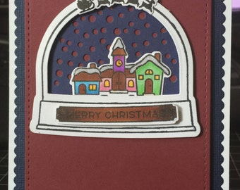 Merry Christmas globe card