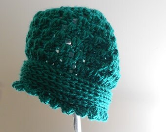 Crochet Hat - Vintage Inspired Crochet Hat - Winter Hat - Crochet Cloche Hat - 30's 40's 50's Inspired Crochet Hat