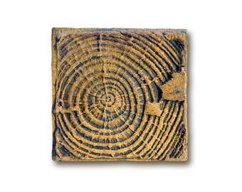 Small Wood Texture Ceramic Handmade Tile