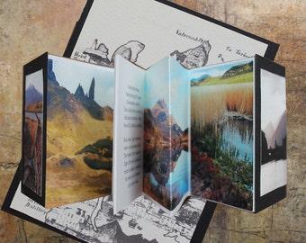 Skye Tales ,handmade book, accordion book ,artist book, concertina book,