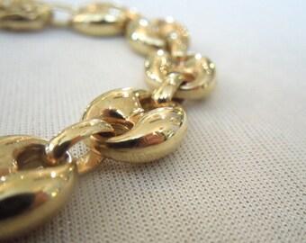 8 inch 14K Yellow Gold Link Bracelet