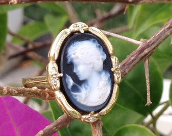 Cameo Ring 14k Yellow Gold Excellent Condition Jewelry from Gems On The Rocks
