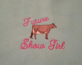 Toddler tshirt - future show dairy cow toddler tshirt - dairy cow show shirt - 4H dairy cow shirt - toddler cow show