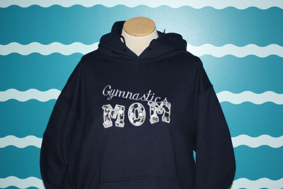 Embroidered gymnastics mom hooded sweatshirt - custom made embroidered mom sweatshirt - Mothers day gift - mothers day shirt