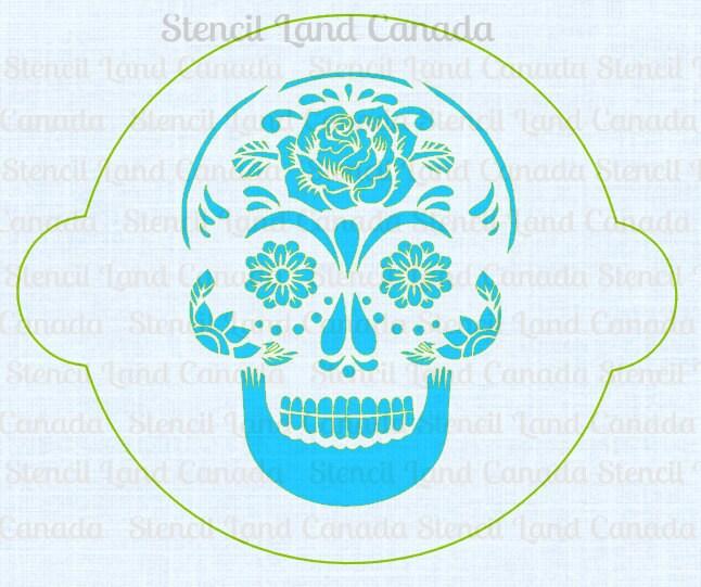 cake stencil sugar skull cake decorating dia de by ...