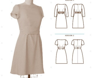 Colette Patterns Peony Dress Sewing Pattern Sizes