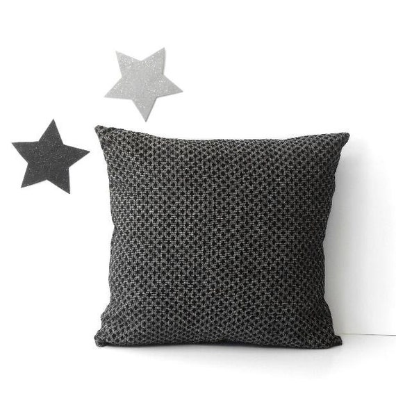 Throw Pillows On Grey Couch : 16x16 Grey Black Pillow Cover Decorative Accent Pillow Couch