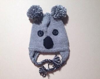 Handknit Koala Kid's Hat