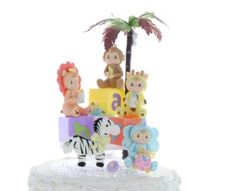 Safari Baby Cake Topper/ Cake Topper/ Baby Shower