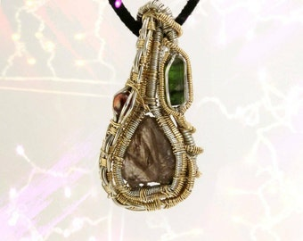 "Wire Wrapped Pendant ""Rooted Strength"""