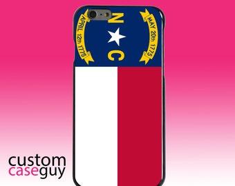 Hard Snap-On Case for Apple 5 5S SE 6 6S 7 Plus - CUSTOM Monogram - Any Colors - North Carolina State Flag