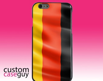 Hard Snap-On Case for Apple 5 5S SE 6 6S 7 Plus - CUSTOM Monogram - Any Colors - Germany Waving Flag