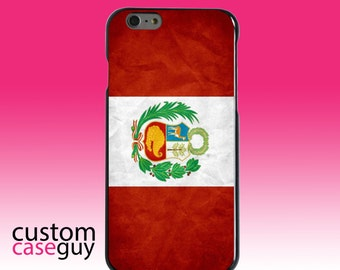 Hard Snap-On Case for Apple 5 5S SE 6 6S 7 Plus - CUSTOM Monogram - Any Colors - Peru Old Flag