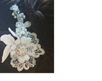 Peggy bridal lace hair comb