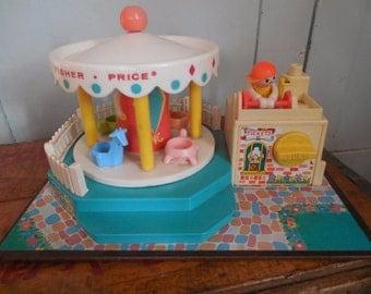 Fun Fisher Price Music Box Merry Go Round