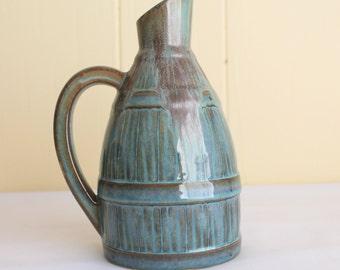 Vintage Ceramic Pottery Pitcher, Jug, Made in France