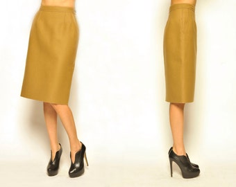 1990's PRADA Felt Wool Pencil Skirt