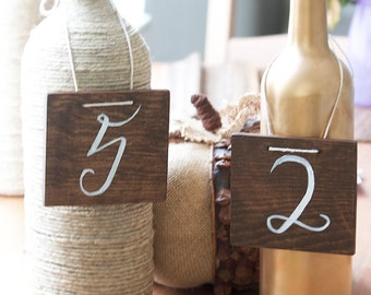 Hanging Wood Table Numbers