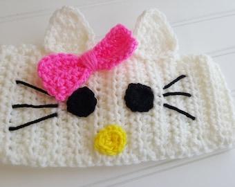 Hello Kitty Earwarmer Headband Pattern PDF