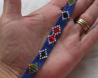 Vintage 1970's Native American Style Beaded Bracelet Needs Closure