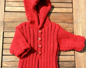 Baby coat with hoodie