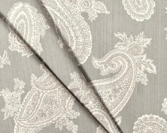 P.Kaufmann Chelsea Silver Fabric Window Treatment Curtain Rod Pocket Draperies Handmade Curtains