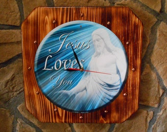 Jesus Loves You....Quartz Wall Clock
