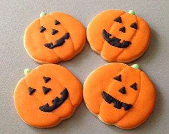 Jack O' Lantern / Pumpkin Sugar Cookies