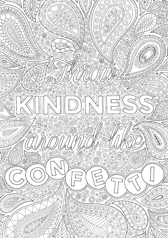 Items Similar To Throw Kindness Around Like Confetti