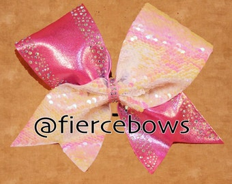 Pink Passion Cheer Bow