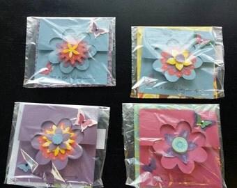 Handmade Diecut Flower Cards
