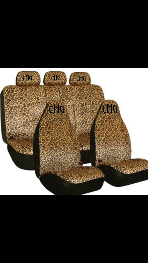 Personalized Universal Car Seat Covers Cheetah Print