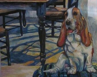 Basset Hound by Kitchen Table