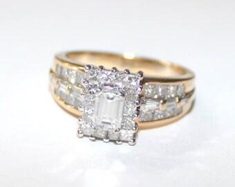 Multi Diamond Ring 18k yellow gold - 8 size - sku 87921