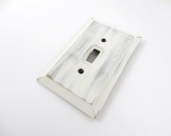 Rustic Switch Plate, Wood Light Switch Cover, Switch Plate, Wall Plate, Shabby Light Switch Plate,  Painted Switch Plate