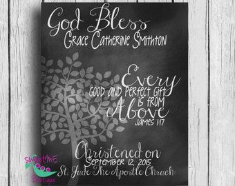 CHRISTENING gift, customized, DIY, Digital Image, new baby, Christening gift