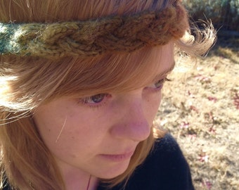 Bohemian Braid Handknit Headband