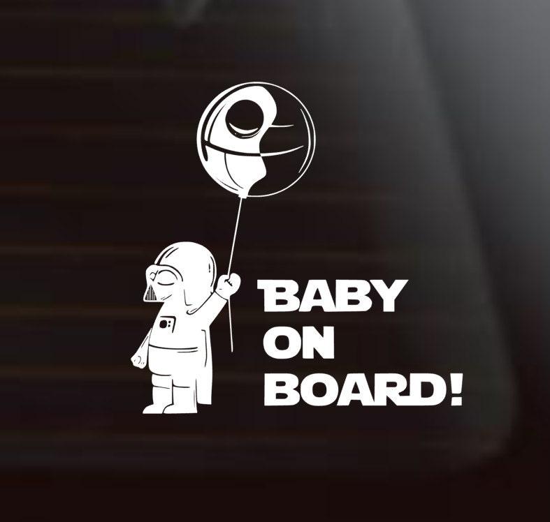Baby On BoardStar Wars Car Decal Darth Vader Star Wars