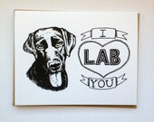 I LAB You- Hand Lettered Greeting Card