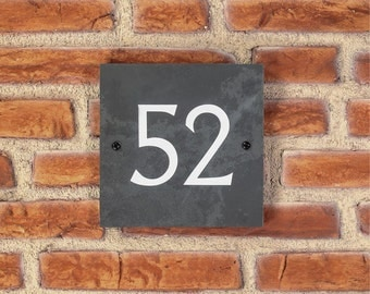Personalised Slate / House Sign / Plaque / Door / Number / Gate / 150mm x 150mm