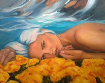 "Original oil painting ""Contrast"""