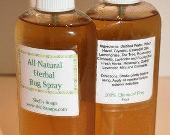 8oz All Natural Herbal Bug Spray (DEET Free)