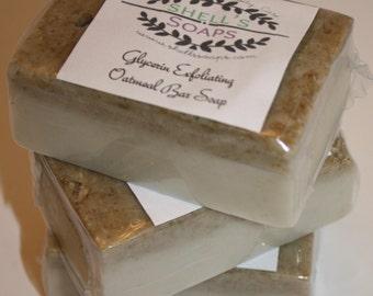 Exfoliating Oatmeal Glycerin Soap