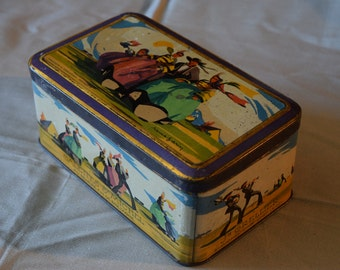 Vintage 1940s Tin Box 'Made in France'  Galettes St. Michel Tin