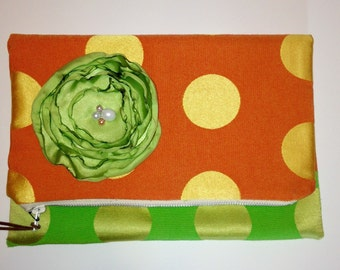 Orange and Lime Clutch