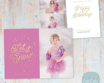 Christmas Card Template - Christmas Photo Card - Photoshop template - AC066 - INSTANT DOWNLOAD